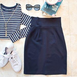 Navy Pencil Skirt Medium